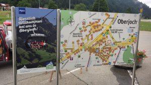Der neue Ortsplan in Oberjoch.